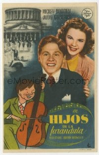 9m089 BABES IN ARMS Spanish herald 1939 Mickey Rooney, Judy Garland, Busby Berkeley, different!