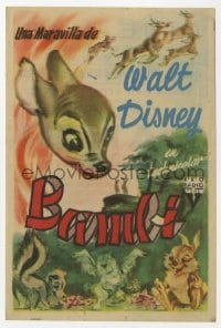 9m091 BAMBI Spanish herald 1950 Disney cartoon classic, different art with Thumper & Flower!