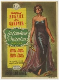 9m094 BAREFOOT CONTESSA Spanish herald 1956 great full-length Alejandro art of sexy Ava Gardner!