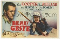 9m096 BEAU GESTE Spanish herald 1942 William Wellman, Legionnaire Gary Cooper, different!