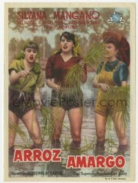 9m101 BITTER RICE Spanish herald 1953 different image of Silvana Mangano & girls in rice field!