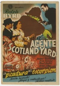 9m104 BLAKE OF SCOTLAND YARD part 3 Spanish herald 1947 Ralph Byrd, serial, different art!