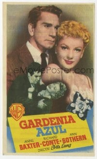 9m106 BLUE GARDENIA Spanish herald 1954 Fritz Lang, Anne Baxter, Richard Conte, different image!