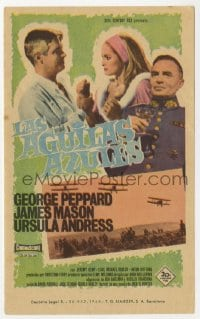 9m109 BLUE MAX Spanish herald 1966 WWI fighter pilot George Peppard, Ursula Andress, James Mason!