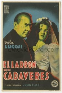 9m111 BODY SNATCHER Spanish herald 1945 cool different art of Bela Lugosi & bride by Fernandez!