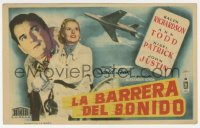 9m115 BREAKING THE SOUND BARRIER Spanish herald 1952 David Lean, Ralph Richardson, Ann Todd
