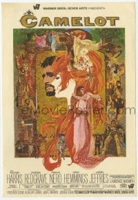 9m120 CAMELOT Spanish herald 1968 Richard Harris as Arthur, Redgrave as Guinevere, Bob Peak art!
