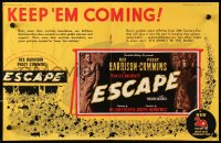 9m019 ESCAPE English trade ad 1948 Peggy Cummins helps convict Rex Harrison break out of prison!