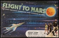 9m020 FLIGHT TO MARS English trade ad 1951 the most fantastic expedition ever conceived by man!