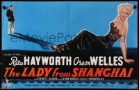 9m026 LADY FROM SHANGHAI English trade ad 1948 art of Orson Welles & sexy blonde Rita Hayworth!