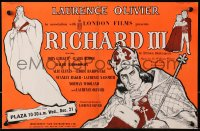 9m029 RICHARD III English trade ad 1955 great art of star/director Laurence Olivier!