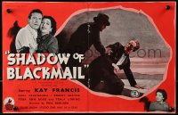 9m038 WIFE WANTED English trade ad 1946 Kay Francis, Paul Cavanagh, Shayne, Shadow of Blackmail!