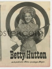 9m082 ANNIE GET YOUR GUN 4pg Spanish herald 1951 different images of sharpshooter Betty Hutton!