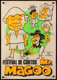 9t004 FESTIVAL DE CORTOS MR MAGOO Colombian poster 1970s cool completely different art of him!