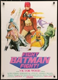 9t001 FIGHT BATMAN FIGHT Filipino poster 1973 different art of Victor Wood in the title role!