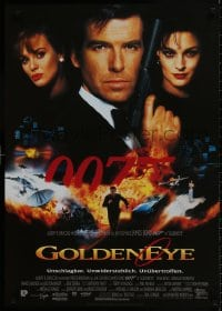 9t074 GOLDENEYE German 1995 cool image of Pierce Brosnan as secret agent James Bond 007!