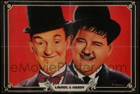 9t025 LAUREL & HARDY Indian 1960s great head & shoulders portrait of the legendary comedy team!