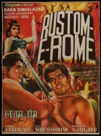 9t026 RUSTOM-E-ROME Indian 1964 Dara Singh, Azad, Vijaya Choudhury, action artwork!