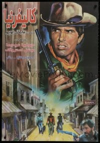 9t053 CALIFORNIA Iranian 1977 Giuliano Gemma, cool spaghetti western art with reward poster!