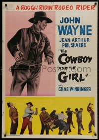 9t055 LADY TAKES A CHANCE Iranian 1963 Jean Arthur moves west and falls in love with John Wayne!