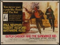 9t013 BUTCH CASSIDY & THE SUNDANCE KID Pakistani 1969 Beauvais art of Newman & Redford!