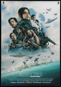 9t022 ROGUE ONE advance DS South American 2016 Star Wars Story, Felicity Jones, top cast montage!