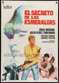 9t029 EL SECRETO DE LAS ESMERALDAS Spanish 1966 Almeida, wonderful, sexy art by Montalban!