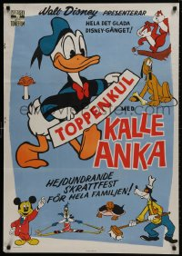 9t018 TOPPENKUL MED KALLE ANKA Swedish 1963 Walt Disney characters including Mickey & Donald Duck!