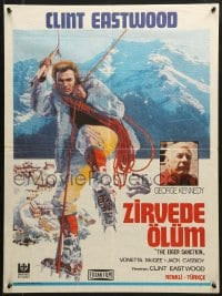 9t064 EIGER SANCTION Turkish 1980 Clint Eastwood's lifeline was held by the assassin he hunted!