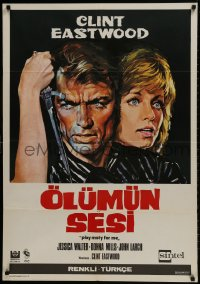 9t069 PLAY MISTY FOR ME Turkish 1971 classic Clint Eastwood, crazy stalker with knife!