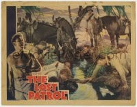 9y635 LOST PATROL LC 1934 Victor McLaglen & his men stop to drink from a stream, John Ford!