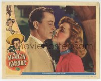 9y691 MEXICAN HAYRIDE LC #5 1948 romantic c/u of Virginia Grey & John Hubbard about to kiss!
