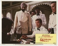 9y731 OCTOPUSSY LC #5 1983 great image of Roger Moore as James Bond playing backgammon!