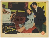 9y741 ONCE UPON A TIME LC 1944 pretty Janet Blair falls for Cary Grant the hard way!