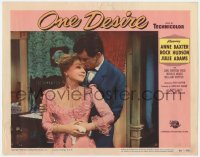 9y742 ONE DESIRE LC #8 1955 great romantic close up of Rock Hudson holding pretty Anne Baxter!