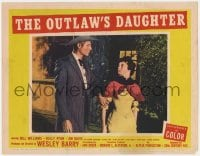 9y745 OUTLAW'S DAUGHTER LC #3 1954 tall guy grabs worried Kelly Ryan by the arm!
