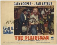 9y759 PLAINSMAN LC #3 R1946 scared men watch Jean Arthur as Calamity Jane holding whip!