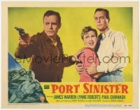 9y762 PORT SINISTER LC #2 1953 House Peters with gun protects Lynne Roberts & James Warren!