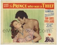 9y766 PRINCE WHO WAS A THIEF LC #6 1951 best c/u of barechested Tony Curtis & sexy Piper Laurie!