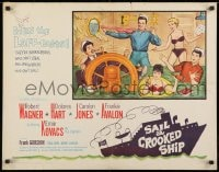 9z934 SAIL A CROOKED SHIP 1/2sh 1961 Robert Wagner & Ernie Kovacks with sexy girls on ship!