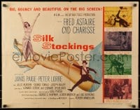 9z950 SILK STOCKINGS style B 1/2sh 1957 musical version of Ninotchka w/ Fred Astaire & Cyd Charisse!
