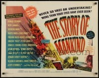 9z962 STORY OF MANKIND 1/2sh 1957 Ronald Colman, the Marx Bros., the BIG BIG BIG story!