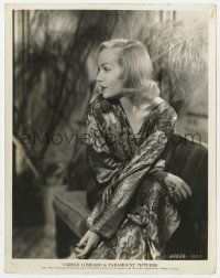 1a168 CAROLE LOMBARD 8x10.25 still 1935 profile portrait of the beautiful star in shimmering gown!
