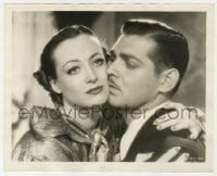 1a175 CHAINED 8x10 still 1934 great romantic close up of Clark Gable & sad Joan Crawford!