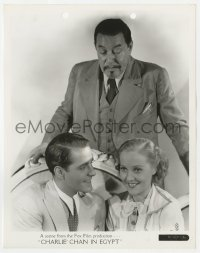 1a181 CHARLIE CHAN IN EGYPT 8x10.25 still 1935 Warner Oland over Pat Paterson & Thomas Beck!