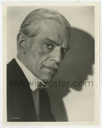 1a192 CLIMAX 8x10 still 1944 great close up of sinister Boris Karloff in tuxedo by shadow!