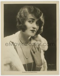 1a201 CONSTANCE BENNETT 8x10.25 still 1920s portrait in fur & pearls at the start of her career!