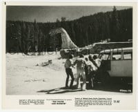 1a206 CRATER LAKE MONSTER 8x10 still 1977 special effects image of men watching the dinosaur!