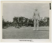 1a223 DAY THE EARTH STOOD STILL 8.25x10 still 1951 great image of Gort facing tanks & soldiers!
