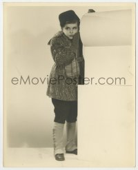 1a226 DEAN STOCKWELL deluxe 8x10 still 1940s super young standing portrait in spats & fur hat!